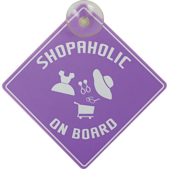 Shopaholic on Board Car Sign, , scaau_hi-res
