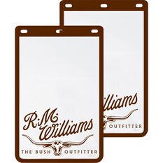 R.M.Williams Mudflaps - Pair, White, , scaau_hi-res