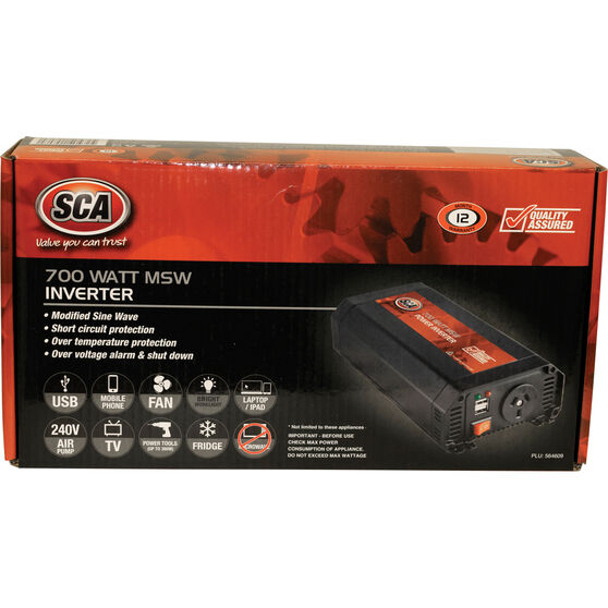 SCA MSW Power Inverter - 700W, , scaau_hi-res