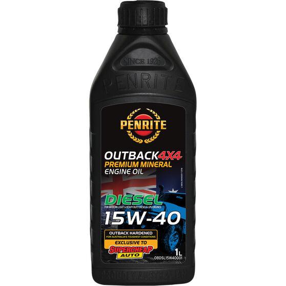 Penrite Outback Hardened 4x4 Diesel Engine Oil 15W-40 1 Litre, , scaau_hi-res