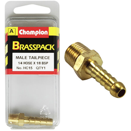 Champion Male Hose Barb - 1 / 4inch X 1 / 8inch, Brass, , scaau_hi-res