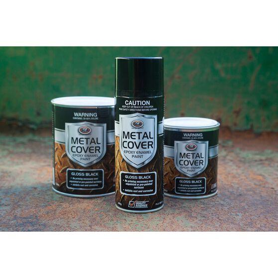SCA Metal Cover Enamel Rust Paint Gloss Red 300g, , scaau_hi-res