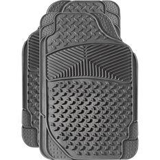 Car Floor Mats - Rubber, Grey, Set of 2 Front, , scaau_hi-res
