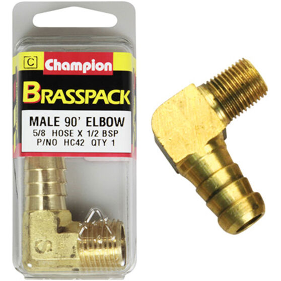 Champion Male Elbow 90° - 5/8 x 1/2 Inch, Brass, , scaau_hi-res
