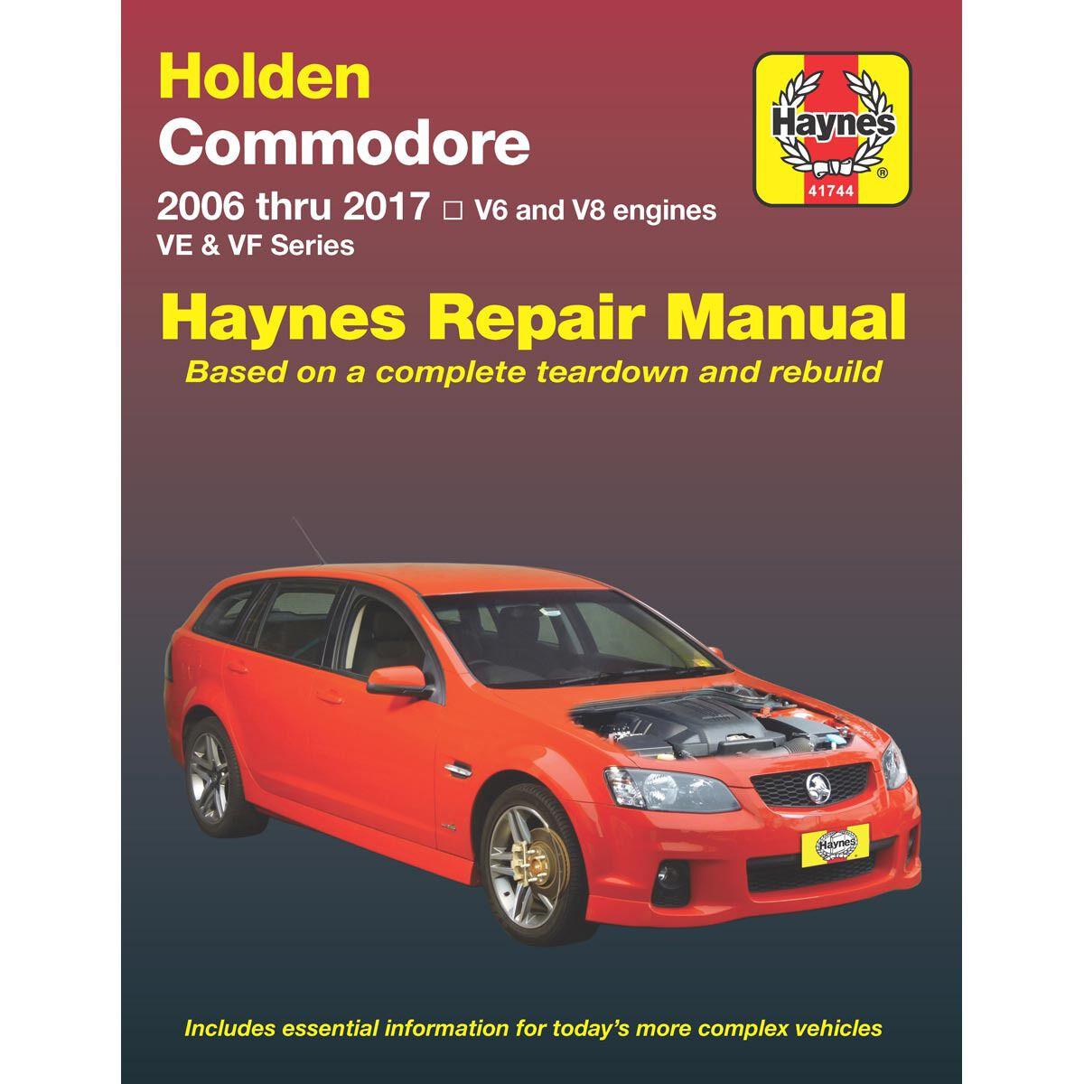 haynes car manual for holden commodore ve vf 2006 2017 41744 rh supercheapauto com au