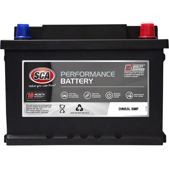 SCA Performance Car Battery SDIN53L MF, , scaau_hi-res