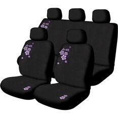 Peach Blossom Seat Cover Pack - Purple, Adjustable Headrests, Size 30 and 06H, Airbag Compatible, , scaau_hi-res
