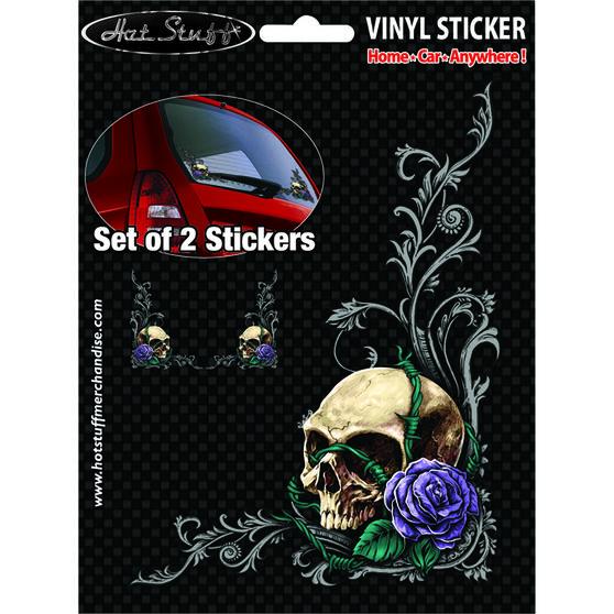 Hot Stuff Sticker - Skull Rose Set, Vinyl, , scaau_hi-res