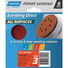 Norton Disc Sander - 120 Grit, 125mm, , scaau_hi-res