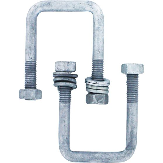 Trojan Axle U Bolt - Galvanised, 51mm x 85mm x 12mm, , scaau_hi-res