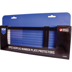 SCA Number Plate Protector - 6 Figure With Lines Standard, , scaau_hi-res