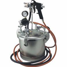 Blackridge Air Spray Gun Siphon Feed Paint Tank 10 Litre, , scaau_hi-res