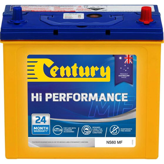 Century Hi Performance Car Battery NS60 MF, , scaau_hi-res