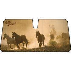 R.M. Williams Horses Sunshade - Fashion, Accordion, Front, , scaau_hi-res