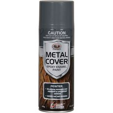 SCA Metal Cover Enamel Rust Paint Pewter 300g, , scaau_hi-res