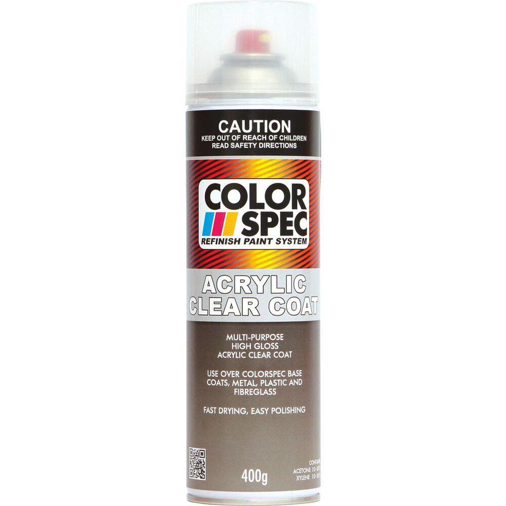 ColorSpec Aerosol Paint - Acrylic, Clear Coat, 400g