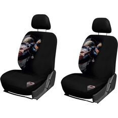 Superman Seat Covers, Black, Adjustable Headrests, Size 30, Front Pair, Airbag Compatible, , scaau_hi-res