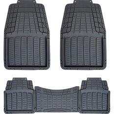 SCA Rubber Floor Mats - Black, Set of 3 or 4, , scaau_hi-res