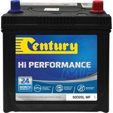 Century Hi Performance Car Battery 50D20L MF, , scaau_hi-res