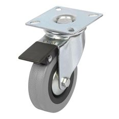 SCA Caster Wheel - 75 x 21mm, Plastic Brake, Swivel, , scaau_hi-res