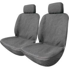 Polypropylene Seat Covers -  Charcoal, Adjustable Headrests, Size 30, Front Pair, , scaau_hi-res
