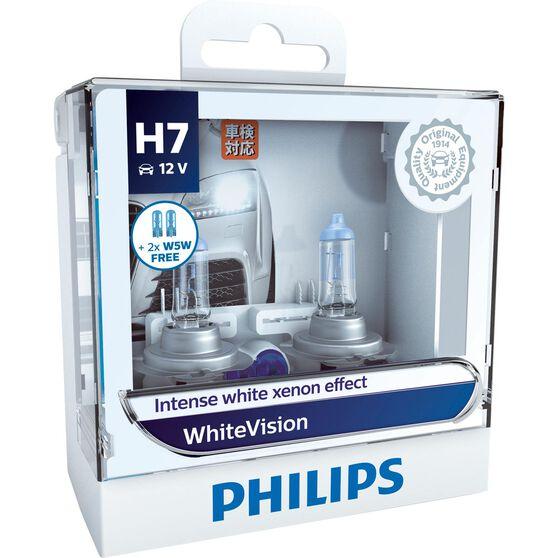Philips WhiteVision Headlight Globe - H7, 12V, 60/55W, , scaau_hi-res