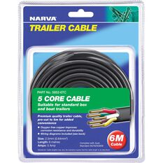 Trailer Cable - 5 Core, 2.5mm, 6M, , scaau_hi-res