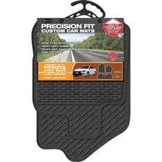Precision Fit Custom Rubber Floor Mats - Suits Toyota Camry 4Dr Sedan 2012+, Black, Set of 3, , scaau_hi-res