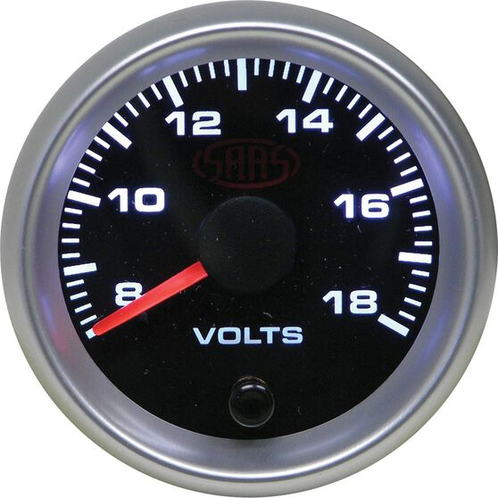 SAAS Volt Gauge - Black, 52mm, , scaau_hi-res