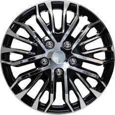 Street Series Wheel Covers Plasma 15 Inch Black/Chrome 4 Pack, , scaau_hi-res