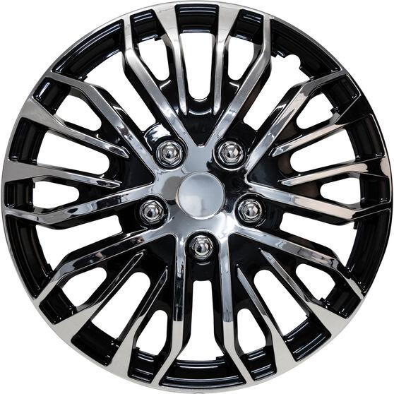 Street Series Wheel Covers - Plasma 15in, Black / Chrome, 4 Pack, , scaau_hi-res