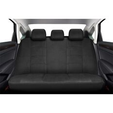 Premium Suede Seat Covers - Black, Adjustable Headrests, Size 06H, Rear Seat, , scaau_hi-res