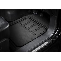 Armor All Deep Dish Car Floor Mats - Rubber , Black Set of 3, , scaau_hi-res