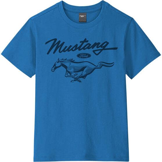 Mustang Boys T-Shirt Blue, , scaau_hi-res