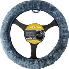 Cloud Steering Wheel Cover - Sheepskin, Charcoal, 380mm diameter, , scaau_hi-res