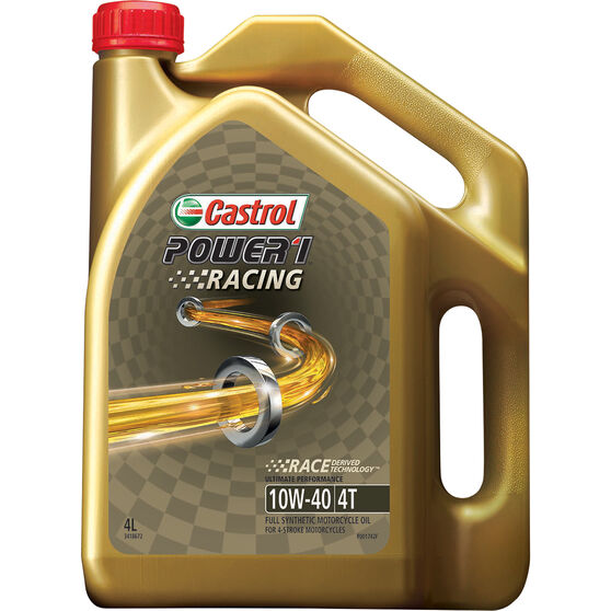 Castrol POWER1 Racing 4T Motorcycle Oil 10W-40 4 Litre, , scaau_hi-res