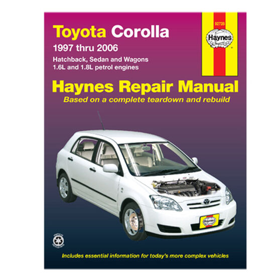 Haynes Car Manual For Toyota Corolla 1997-2006 - 92728, , scaau_hi-res