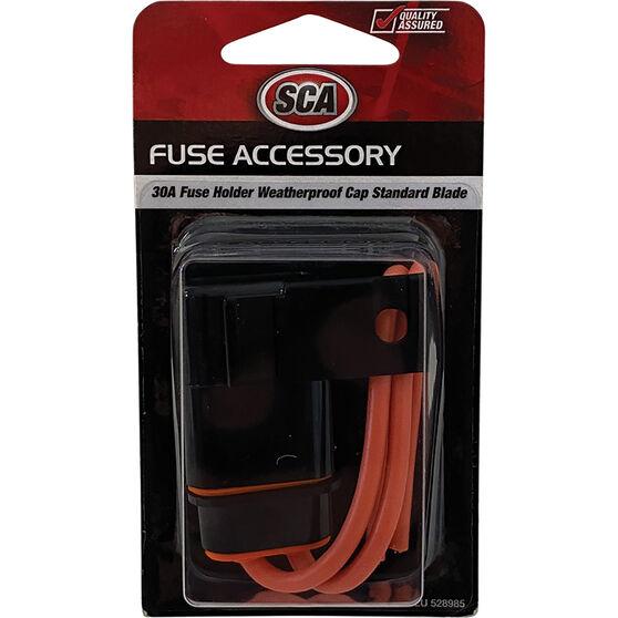 SCA Standard Blade Fuse Holder, Waterproof Cap, , scaau_hi-res