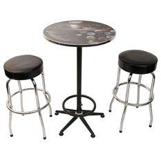Bathurst 1000 Workshop Table & Two Stool Combo, , scaau_hi-res