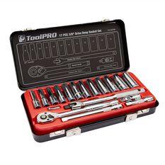 ToolPRO Socket Set - 3 / 8 inch Drive, Metric, 17 Piece, , scaau_hi-res