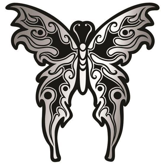 Hot Stuff Sticker - Tribal Butterfly, Chrome, , scaau_hi-res
