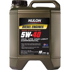 Nulon Semi Synthetic 4X4, Ute & Light Commercial Diesel Engine Oil 5W-40 10 Litre, , scaau_hi-res