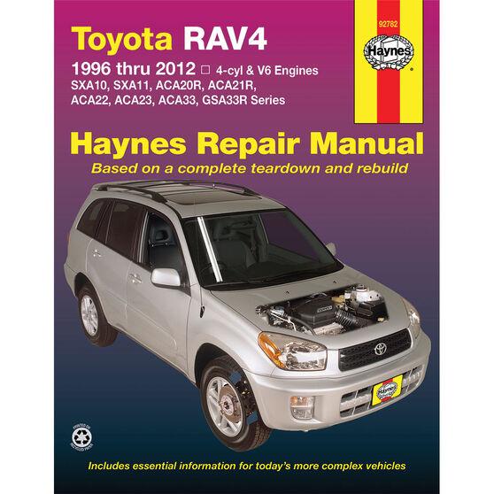 Haynes Car Manual Toyota RAV4, 1994-2012 - 92782, , scaau_hi-res