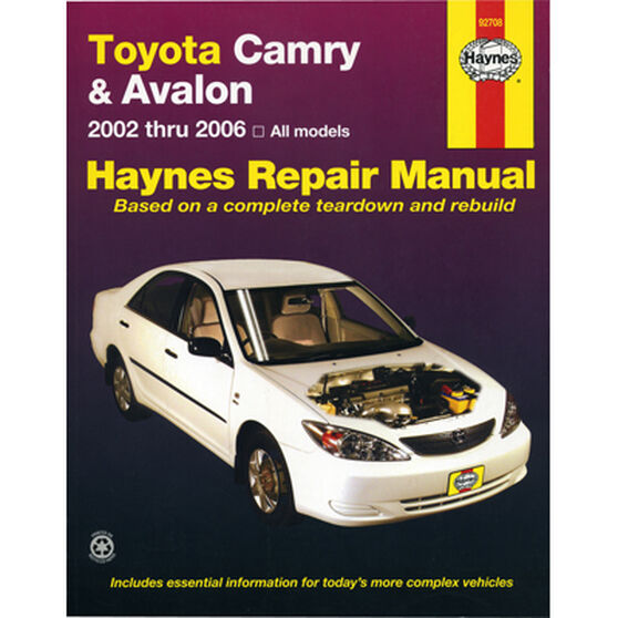 Haynes Car Manual For Toyota Camry / Avalon 2002-2006 - 92708, , scaau_hi-res