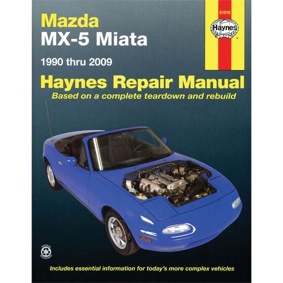 Haynes Car Manual For Mazda MX-5 Miata 1990-2014 - 61016, , scaau_hi-res