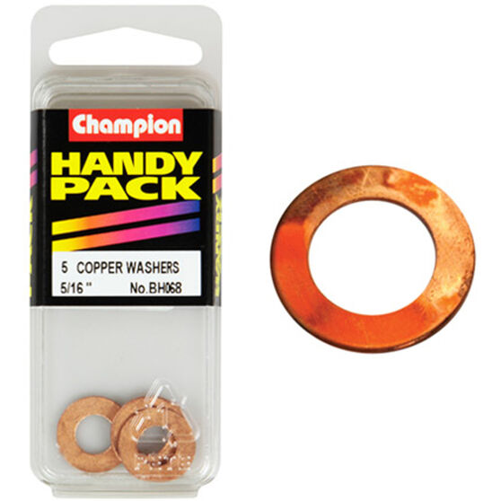 Champion Copper Washers - 5 / 16inch, BH068, Handy Pack, , scaau_hi-res