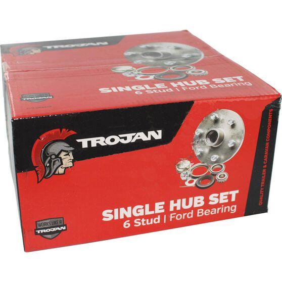 Trojan Trailer Hub Kit - Landcruiser  /  Ford, 6 Stud, , scaau_hi-res