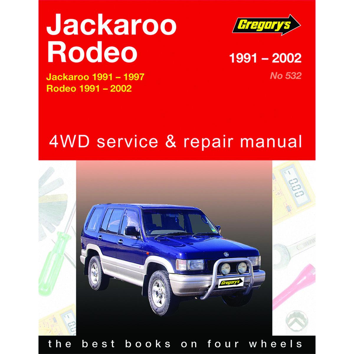 gregory s car manual for holden jackaroo rodeo 1991 2002 532 rh supercheapauto com au