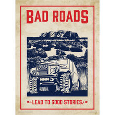 Bad Roads Lead to Good Stories Tin Sign, , scaau_hi-res