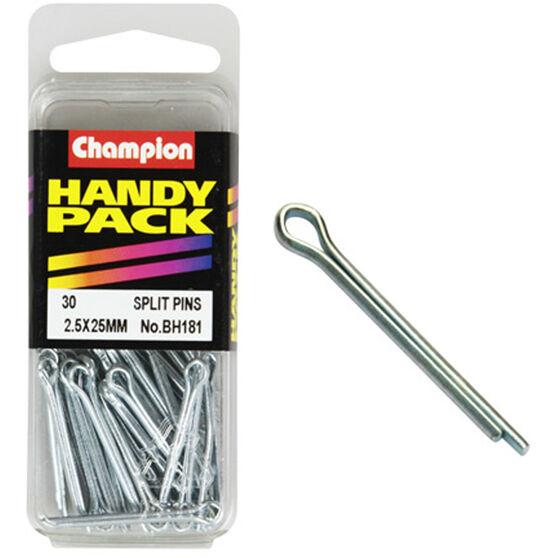 Champion Split Pins - 2.5mm X 25mm, BH181, Handy Pack, , scaau_hi-res